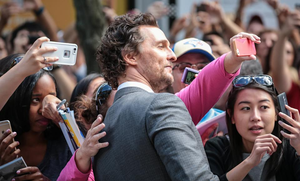 Matthew McConaughey on the red carpet before the 'Sing' Premiere at the Toronto International Film Festival (TIFF)