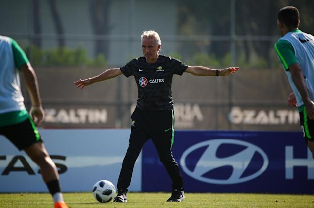 Soccer Football - FIFA World Cup - Australia Training - Antalya, Turkey - June 3, 2018 Australia coach Bert van Marwijk during a training. REUTERS/Kaan Soyturk
