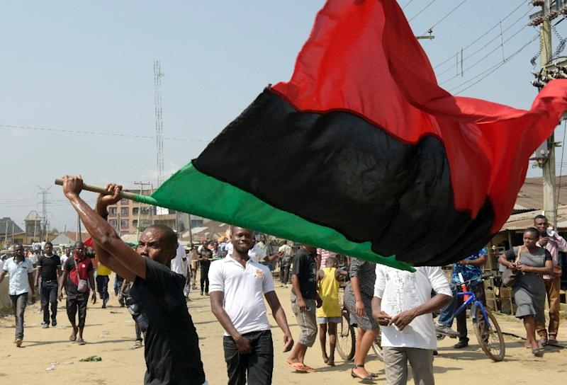 Pro-Biafran activists have renewed their claim for a separate state, arguing the southeast region has been neglected by a succession of federal governments since the end of the civil war (AFP Photo/Pius Utomi Ekpei)
