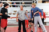 """<p>Ten years ago, the Chetley family fell apart after the death of their father, a wresting legend. In hopes of reuniting his family, especially his much older brother, high school genius Cal joins the wrestling team.</p> <p><a href=""""http://www.hulu.com/movie/legendary-24f9d714-c931-4ea7-a9ca-d8ca1e61bf08"""" class=""""link rapid-noclick-resp"""" rel=""""nofollow noopener"""" target=""""_blank"""" data-ylk=""""slk:Watch Legendary on Hulu."""">Watch <strong>Legendary</strong> on Hulu.</a></p>"""
