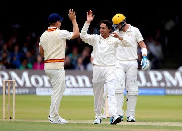 LONDON, ENGLAND - JULY 05: Saeed Ajmal of MCC celebrates dismissing Adam Gilchrist of Rest of the World during the MCC and Rest of the World match at Lord's Cricket Ground on July 5, 2014 in London, England. (Photo by Ben Hoskins/Getty Images)