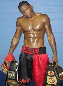 Denis Douglin is an undefeated boxer, but he won't get mad if you call him a mama's boy