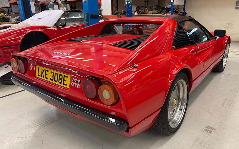 Ferrari 308 GTS converted to EV electric power