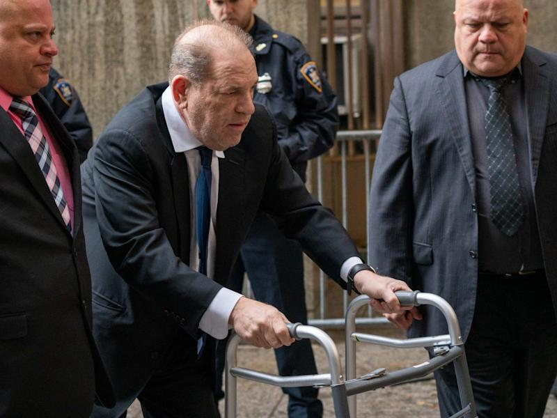 Movie producer Harvey Weinstein arrives at criminal court on 11 December 2019 in New York City: Getty