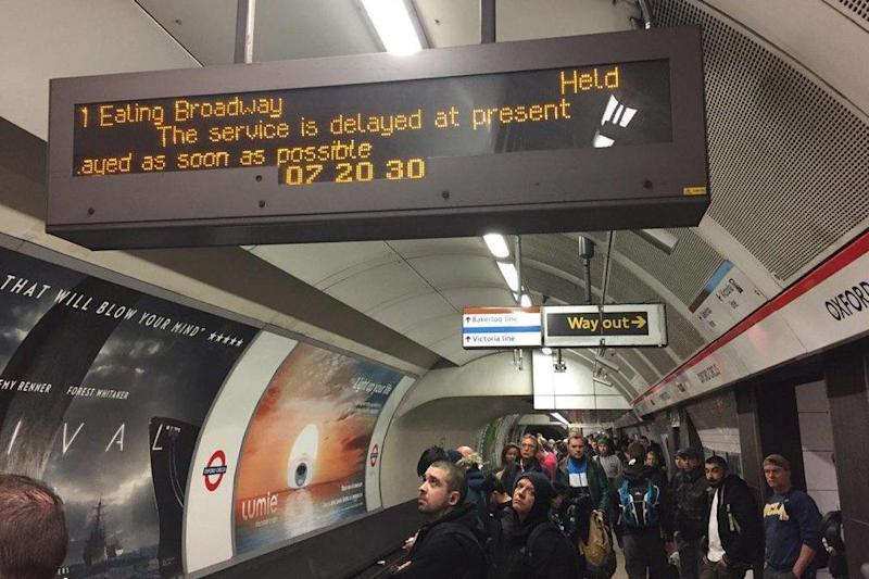Central line: Frustrated commuters suffered severe delays (file picture): @RossLydall