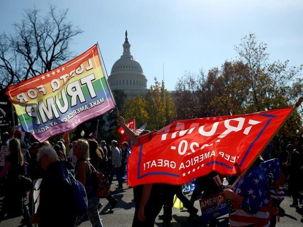 Thousands of people turned up in the US capital on Saturday (local time) to show support to President Donald Trump. (Photo credit: Reuters)