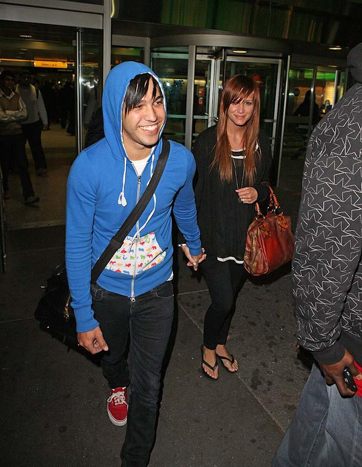 "Newlyweds Pete Wentz and Ashlee Simpson managed to keep their honeymoon under wraps. Pete called into Ryan Seacrest's show saying that they were at home, when they were actually vacationing the Bahamas. The couple returned to the States on Friday. SDFL/Rocke/<a href=""http://www.splashnewsonline.com"" target=""new"">Splash News</a> - May 22, 2008"