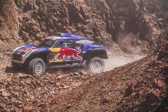 "#300 X-Raid Mini JCW Team: Carlos Sainz, Lucas Cruz <span class=""copyright"">Red Bull Content Pool</span>"