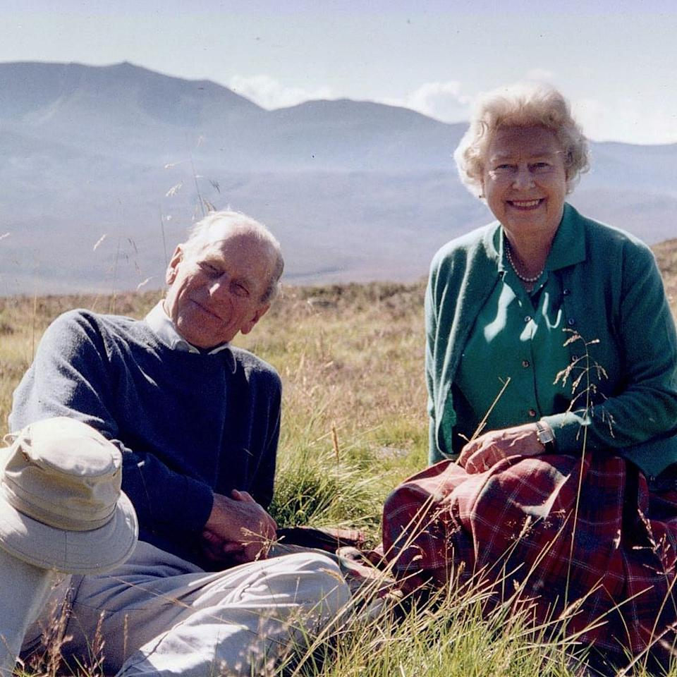 The Queen and Prince Philip in the Scottish Highlands