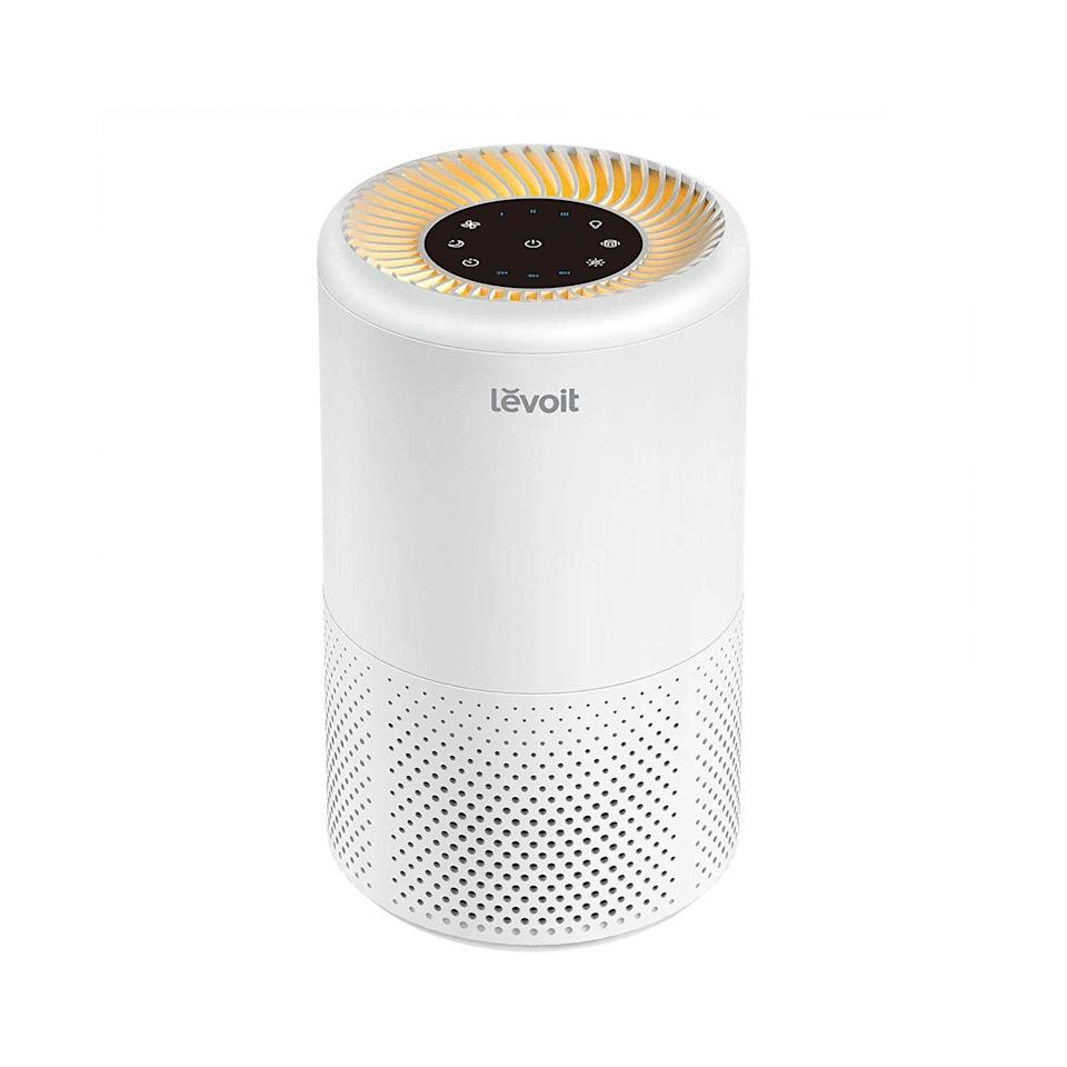 """Amazon has plenty of useful gadgets for gifting friends and family, like this Levoit Air Purifier. It's great for filtering out stuffiness and bad vibes in their kitchen/living room/yoga den hybrid. $90, Amazon. <a href=""""https://www.amazon.com/Purifiers-Allergies-Purifier-Filtration-Bedroom/dp/B08JBHZNYV?"""" rel=""""nofollow noopener"""" target=""""_blank"""" data-ylk=""""slk:Get it now!"""" class=""""link rapid-noclick-resp"""">Get it now!</a>"""
