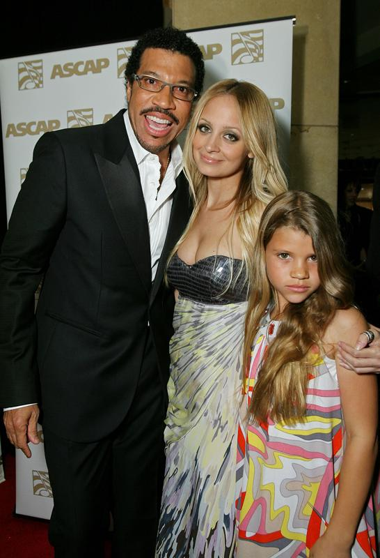 Lionel Richie, Nicole Richie and Sophia Richie, 2008 ASCAP Pop Awards, Hollywood, CA