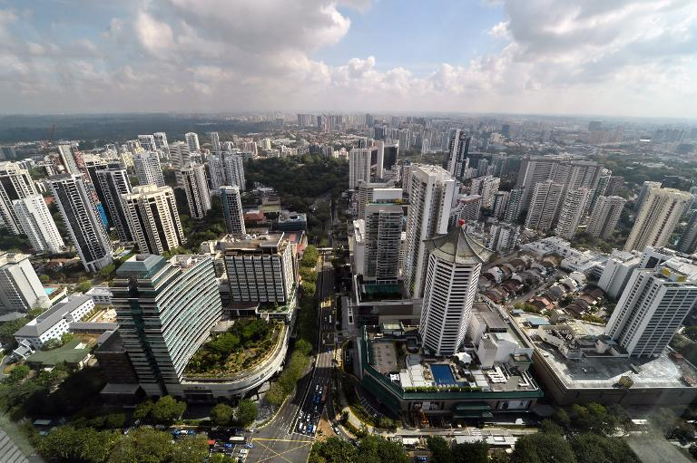 A general view shows the district area around Orchard Road on March 6, 2014 in Singapore