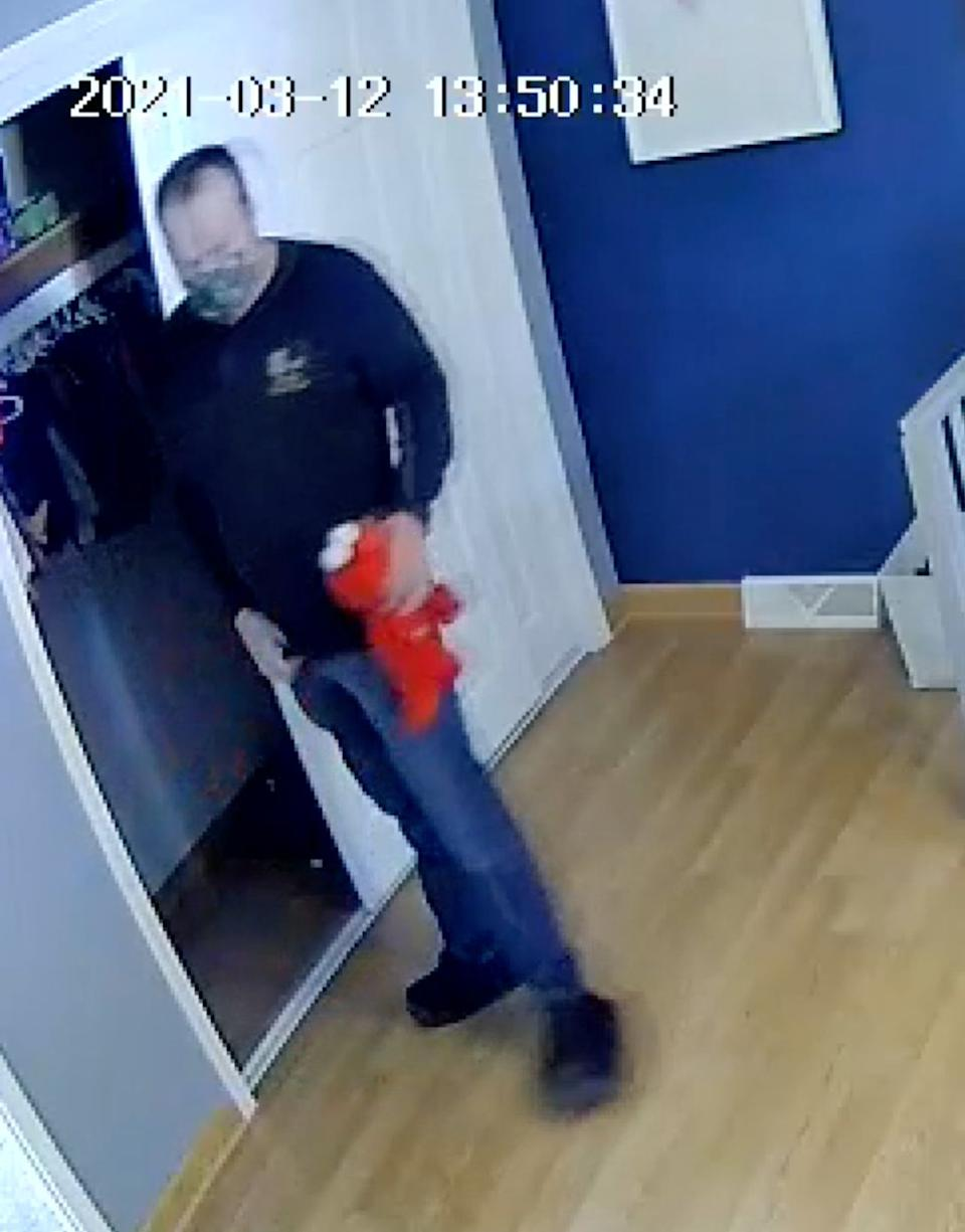 Kevin Wayne VanLuven, 59, is accused of a sex act with an Elmo doll while doing a home inspection in Oxford Township, Michigan. (Photo: Fox2Detroit)
