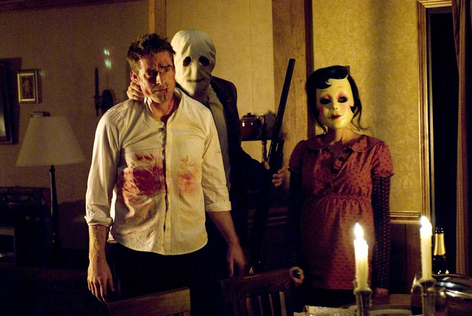 """<p>Says <em>Glamour</em> contributing writer Abby Gardner, """"I don't know that I've ever been as terrified in a movie theater than I was watching the home-invasion horror-thriller <em>The Strangers</em>, starring Liv Tyler and Scott Speedman. My chest tightens and my jaw clenches now even just thinking about it—I think partially because it feels like it could happen to anyone. I dare you to watch and not have the line 'Because you were home' haunt you forever.""""</p> <p><a href=""""https://www.amazon.com/Strangers-Alex-Fisher/dp/B001IX03BE"""" rel=""""nofollow noopener"""" target=""""_blank"""" data-ylk=""""slk:Available to rent on Amazon Prime Video"""" class=""""link rapid-noclick-resp""""><em>Available to rent on Amazon Prime Video</em></a></p>"""