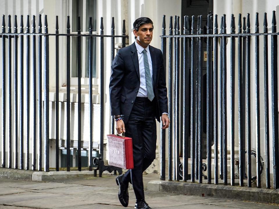 <p>The chancellor thanked 'mums' for their efforts in managing homeschooling, but his approach to financial support seems less gender-specific</p> (Getty)