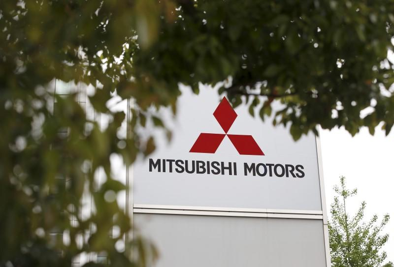 Logo of Mitsubishi Motors Corp is seen at its headquarters in Tokyo