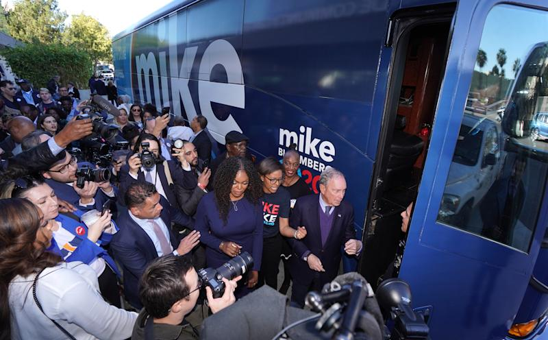 Mike Bloomberg on the campaign trail