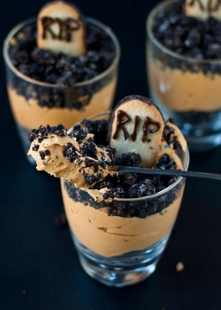 "<p>They're eerily delicious.</p><p>Get the recipe from <a href=""http://neighborfoodblog.com/2013/10/pumpkin-dirt-pudding-graveyard-parfaits.html"" rel=""nofollow noopener"" target=""_blank"" data-ylk=""slk:NeighborFood"" class=""link rapid-noclick-resp"">NeighborFood</a>.</p>"