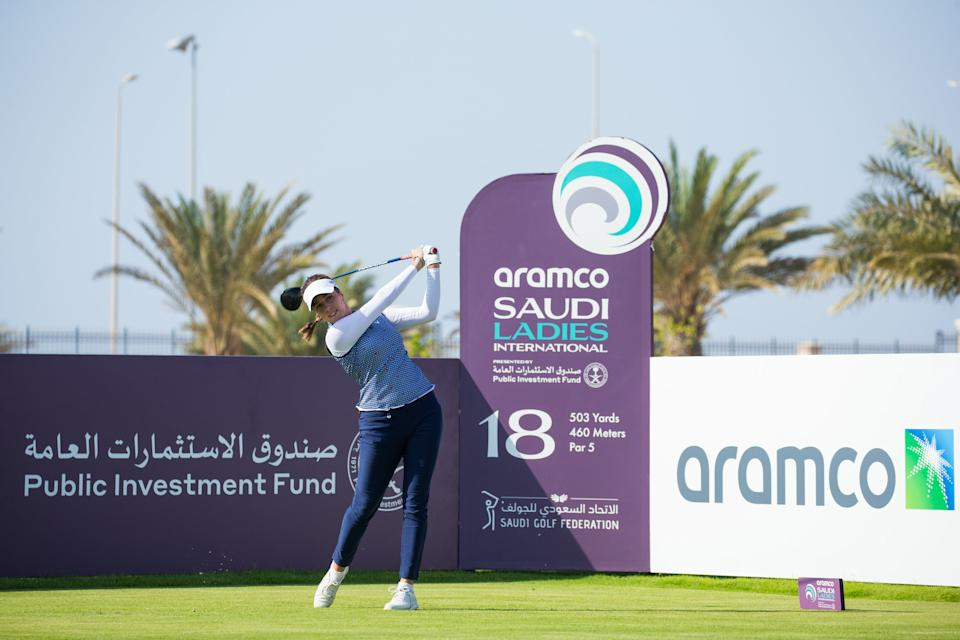 Hall, 25, helped Team Europe soar to Solheim Cup glory in 2019 and is relishing the prospect of the Aramco Team Series this summer