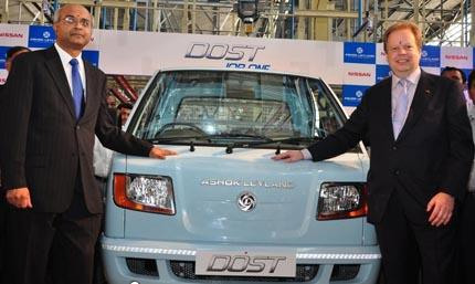 Ashok Leyland and Nissan joint venture DOST rolls out from new lines