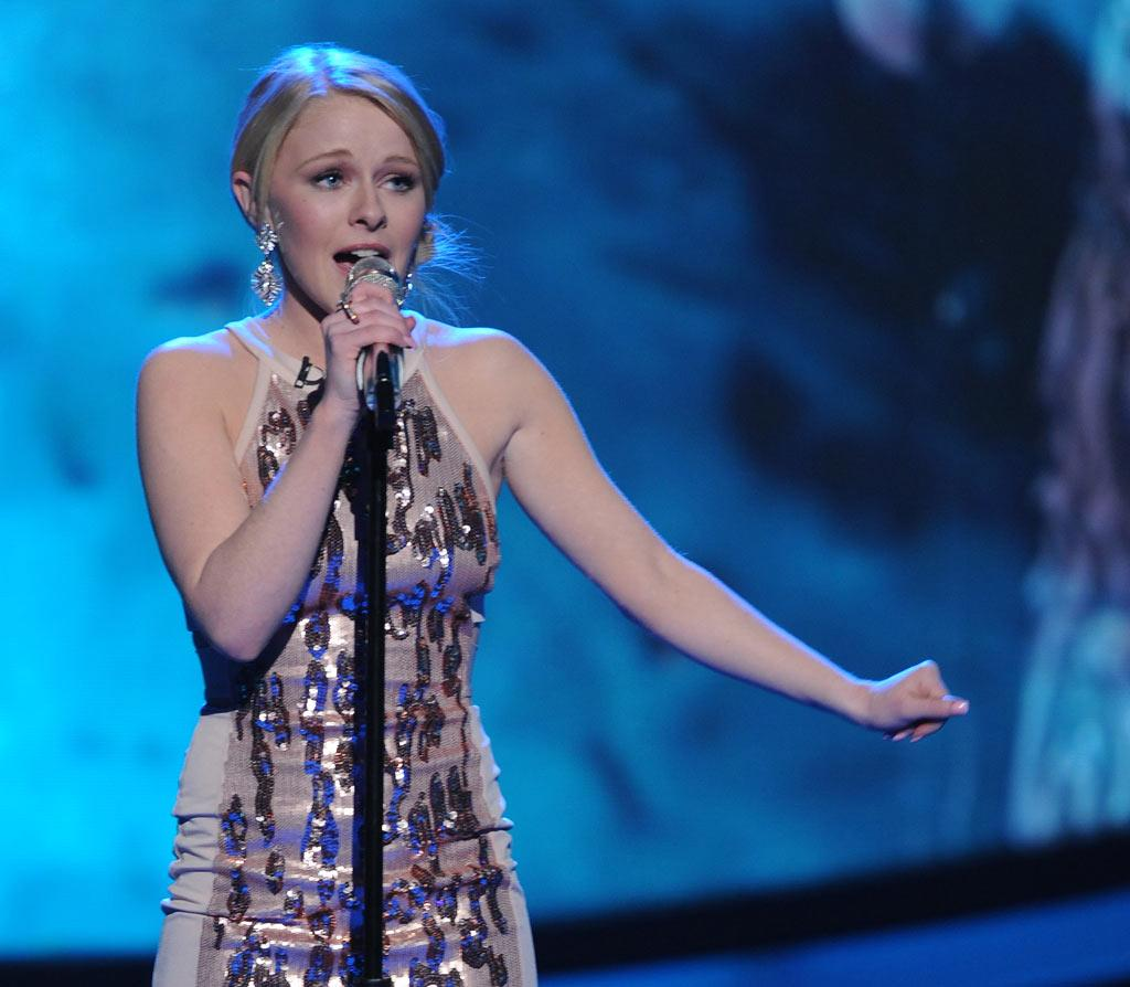 "Hollie Cavanagh performs ""Reflection"" by Christina Aguilera on ""American Idol."""
