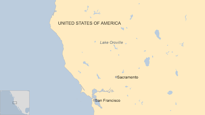 Map of northern California