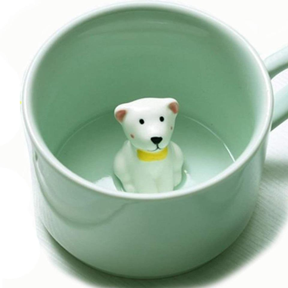 "<p>And, because we can't forget the dog-loving boss, this cute ceramic mug has a tiny puppy inside for a sweet surprise after every cup of coffee.</p> <br> <br> <strong>Amazon</strong> Surprise Dog Coffee Mug with Small Puppy Inside - 8 Oz, $12.82, available at <a href=""https://www.amazon.com/Surprise-Coffee-Small-Puppy-Inside/dp/B078SJ3QRY/ref=sr_1_5?s=home-garden&ie=UTF8&qid=1544040104&sr=1-5&keywords=dog+mug"" rel=""nofollow noopener"" target=""_blank"" data-ylk=""slk:Amazon"" class=""link rapid-noclick-resp"">Amazon</a>"