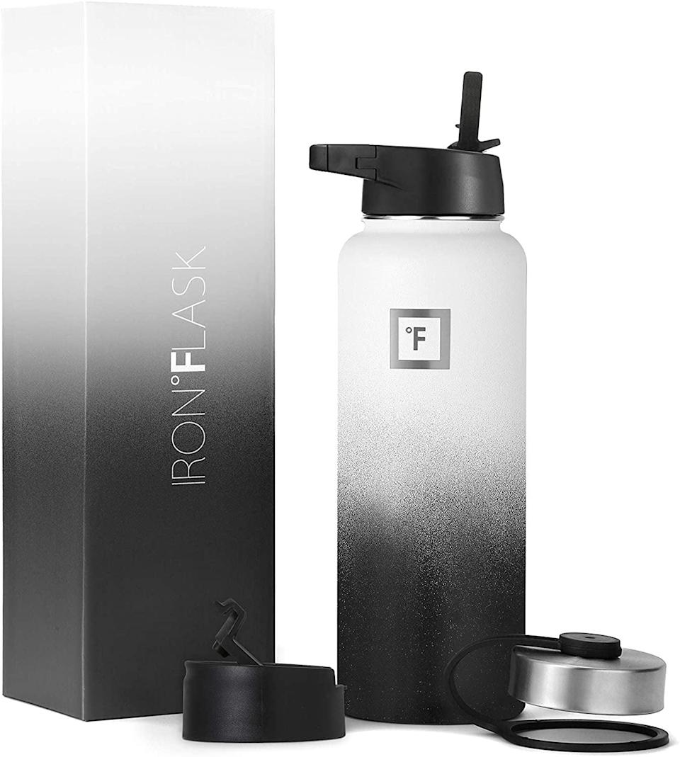 <p>Stay hydrated with this <span>Iron Flask Sports Water Bottle - 40 Oz</span> ($28). It's a vacuum insulated stainless steel bottle that will keep your drinks cold for over 24 hours. </p>