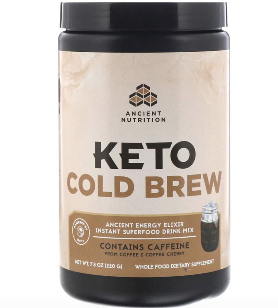Dr. Axe / Ancient Nutrition, Keto Cold Brew. PHOTO: iHerb