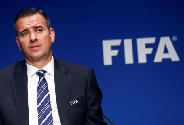 FILE PHOTO: FIFA's acting secretary general Kattner attends a news conference after a meeting of the Executive Committee in Zurich