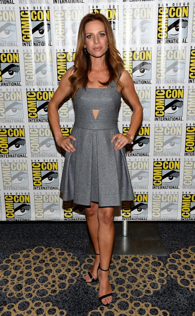 "Jessalyn Gilsig attends the ""Vikings"" Panel during San Diego Comic Con 2013 at San Diego Convention Center on July 19, 2013 in San Diego, California."
