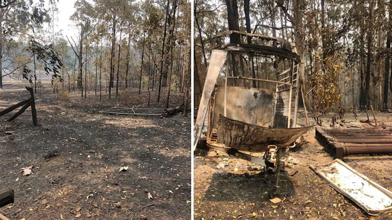 russell crowe burnt property