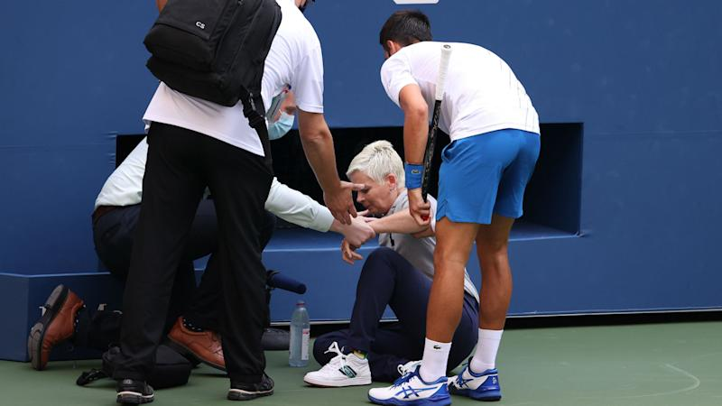 US Open 2020: Djokovic defaulted for hitting linesperson with ball