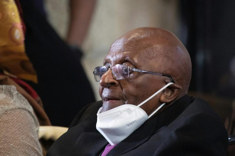 Ninety years: Desmond Tutu attends a birthday celebration service in Cape Town (AFP/RODGER BOSCH)