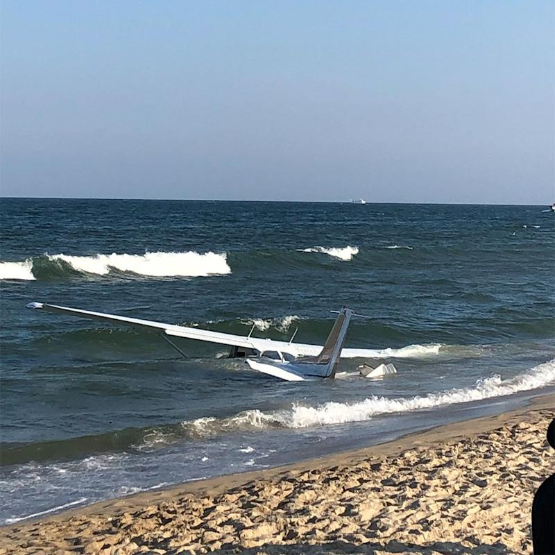 Small Plane Crashes in Water Near Popular Maryland Beach — and the Pilot Swims to Shore!