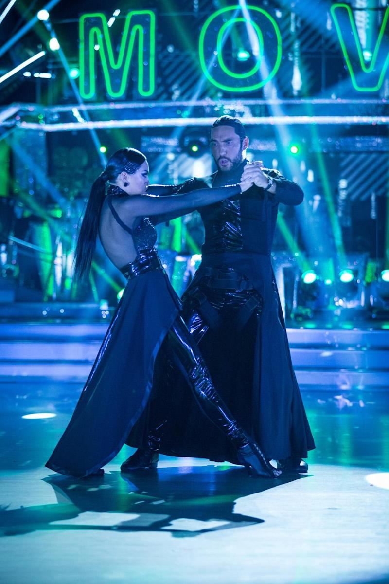Passionate Paso Doble: Seann Walsh and Katya Jones dancing on last weekend's episode (BBC)