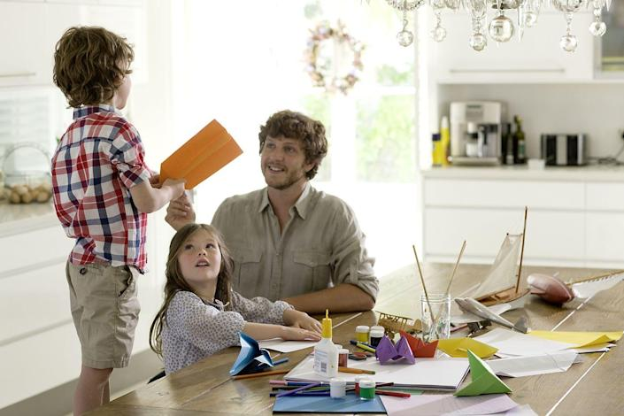 """<p>You can include Dad in the process of making his Father's Day crafts. He'll definitely treasure the cards and crafts he got to make with his favorite people. </p><p><strong>RELATED:</strong> <a href=""""https://www.womansday.com/home/crafts-projects/g2461/fathers-day-craft-ideas/"""" rel=""""nofollow noopener"""" target=""""_blank"""" data-ylk=""""slk:20 Easy Father's Day Craft Ideas That Make Great Gifts for Dad"""" class=""""link rapid-noclick-resp"""">20 Easy Father's Day Craft Ideas That Make Great Gifts for Dad</a></p>"""