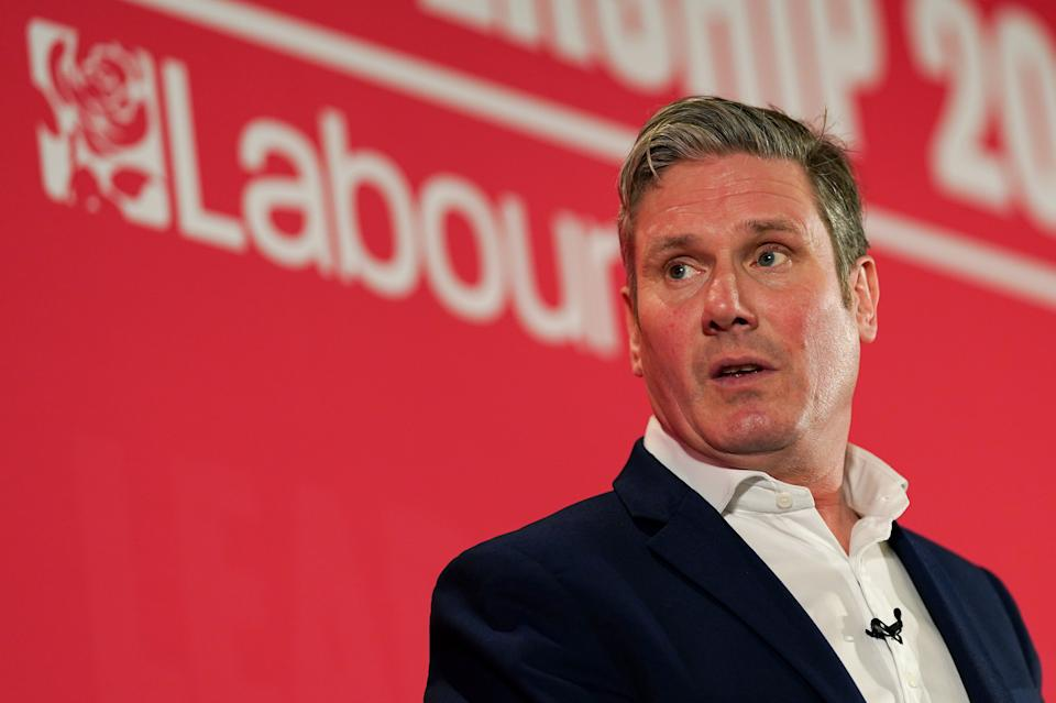 DURHAM, ENGLAND - FEBRUARY 23: Sir Keir Starmer, Shadow Secretary of State for Exiting the European Union addresses the audience during the Labour Party Leadership hustings at the Radisson Blu Hotel on February 23, 2020 in Durham, England. Sir Keir Starmer, Rebecca Long-Bailey and Lisa Nandy are vying to replace Labour leader Jeremy Corbyn, who offered to step down following his party's loss in the December 2019 general election. The final ballot will open to party members and registered and affiliated supporters on February 24. (Photo by Ian Forsyth/Getty Images)
