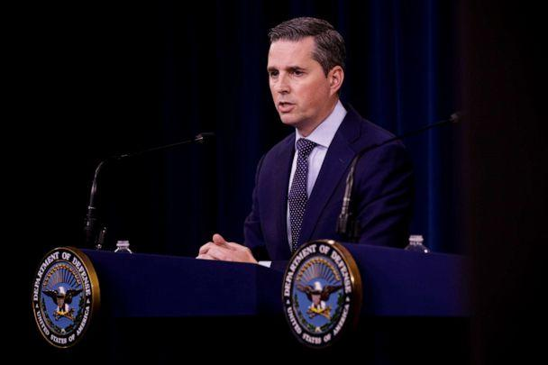 PHOTO: Assistant to the Secretary of Defense for Public Affairs Jonathan R. Hoffman and speaks at a press briefing at the Pentagon on Sept. 19, 2019. (Anadolu Agency via Getty Images, FILE)