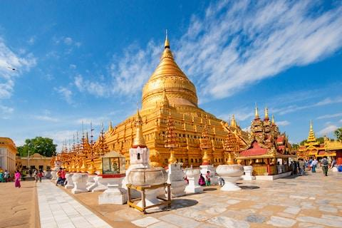 Beautiful Shwedagon Pagoda - Credit: getty