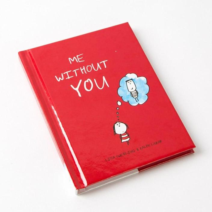 """<p>Cute illustrations that are """"incomplete without two."""" </p> <p><span>Me Without You</span> ($10)</p>"""