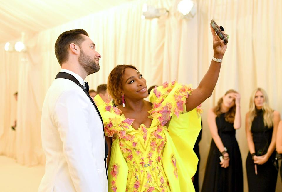 NEW YORK, NEW YORK - MAY 06: Serena Williams and Alexis Ohanian attend The 2019 Met Gala Celebrating Camp: Notes on Fashion at Metropolitan Museum of Art on May 06, 2019 in New York City. (Photo by Mike Coppola/MG19/Getty Images for The Met Museum/Vogue )