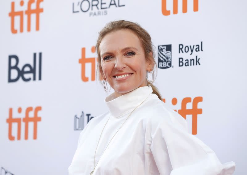 """FILE PHOTO: Cast member Toni Collette arrives for the special presentation of """"Knives Out"""" at the Toronto International Film Festival (TIFF) in Toronto, Ontario, Canada"""