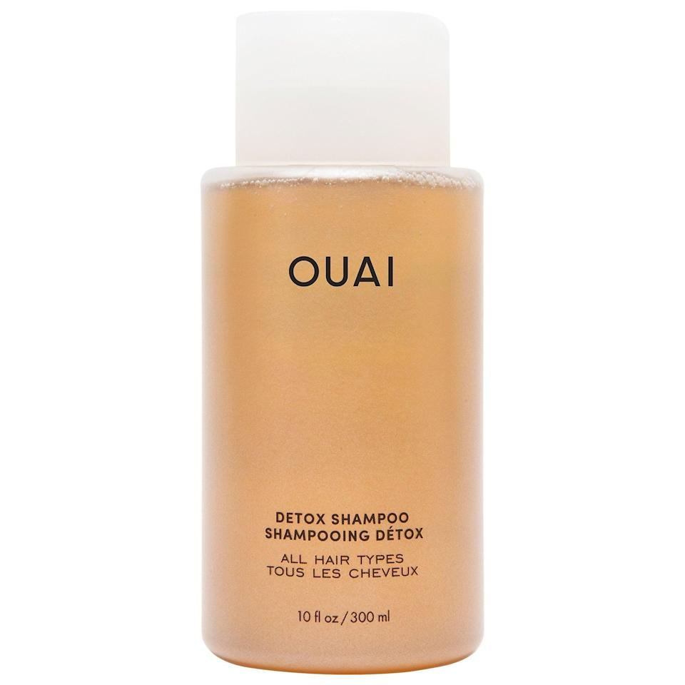 <p>If your scalp is one big pile of beauty products, we've been there. Give hair a reset with the new <span>Ouai Detox Shampoo</span> ($30). It deeply cleanses and clarifies - thanks to apple cider vinegar - while hydrolyzed keratin adds softness and shine.</p>