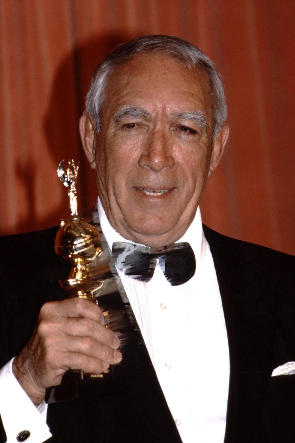 <p>Actor Anthony Quinn won the Cecil B. DeMille Award in 1987.</p>
