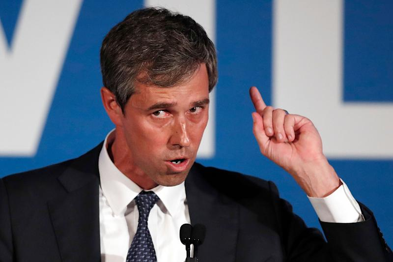 Democratic presidential candidate Beto O'Rourke speaks during the I Will Vote Fundraising Gala in Atlanta. (Photo: John Bazemore/AP)