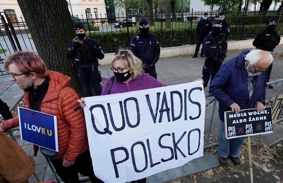 Poland Europe (Copyright 2021 The Associated Press. All rights reserved)