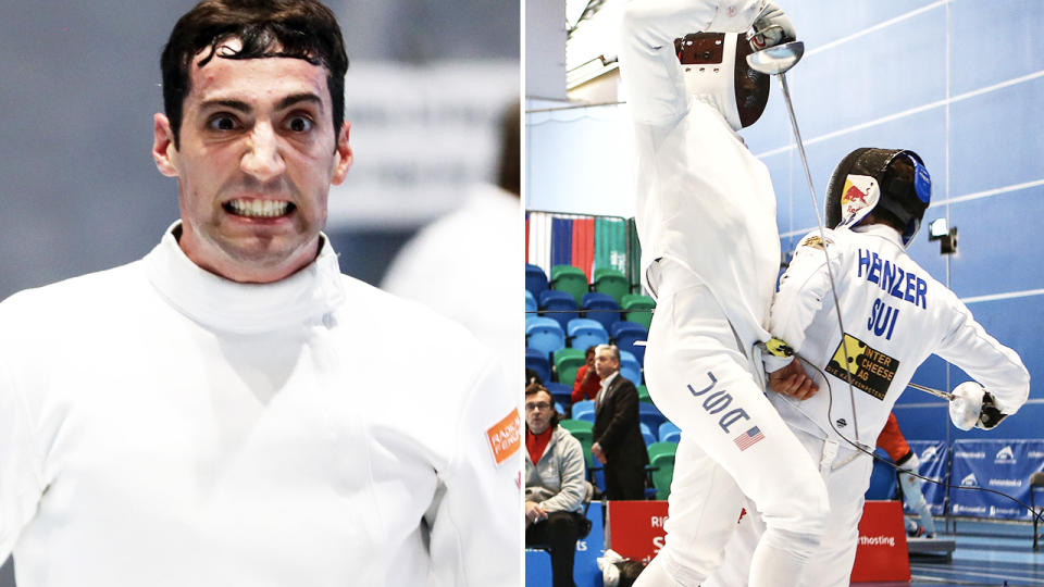 Alen Hadzic, pictured here in action for America in fencing.