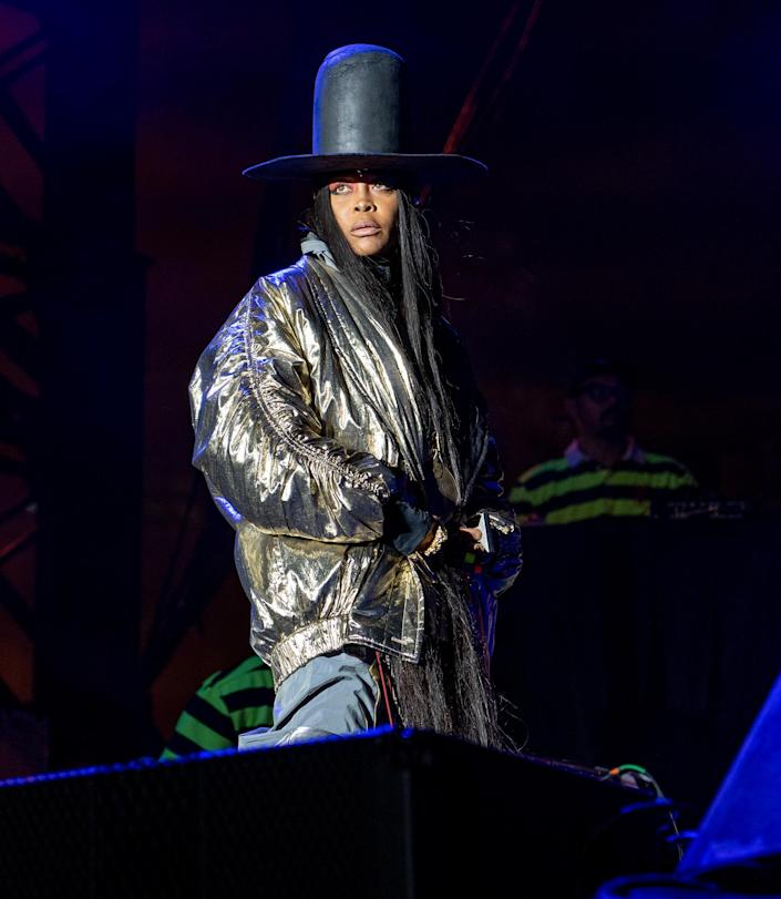 <p>Erykah Badu performs at Pitchfork Music Festival 2021 in Union Park on Sept. 12 in Chicago.</p>
