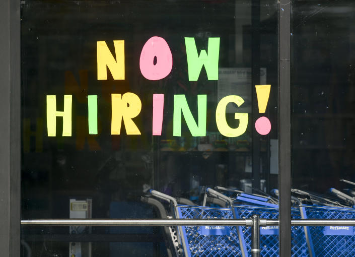 Muhlenberg, PA - August 26: A help wanted sign that reads